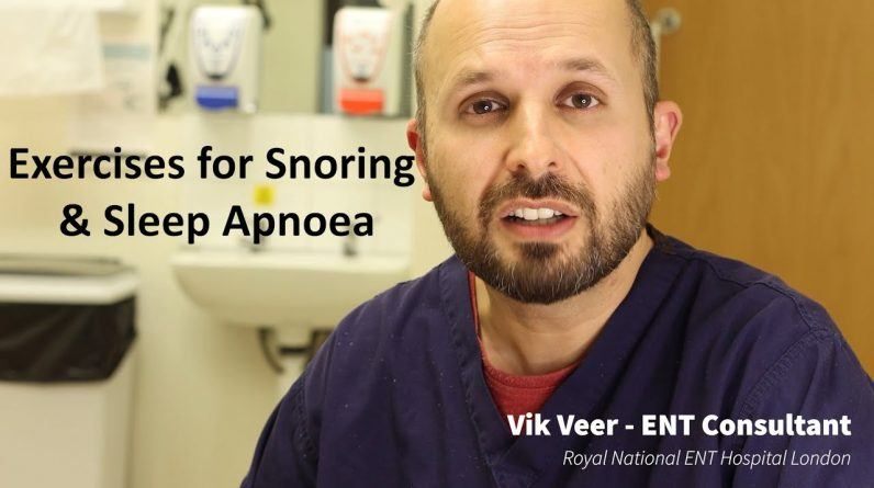 Throat Exercises for Snoring and Sleep Apnoea (oropharyngeal exercises / myofunctional therapy)